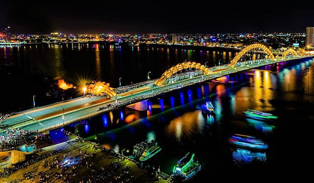 dragon bridge danang vietnam world away