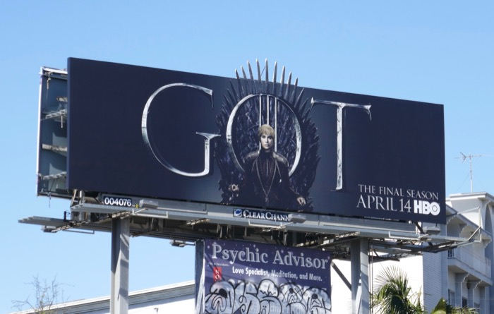 Game of Thrones season 8 Cersei billboard