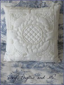WHITE BEADED CUSHION