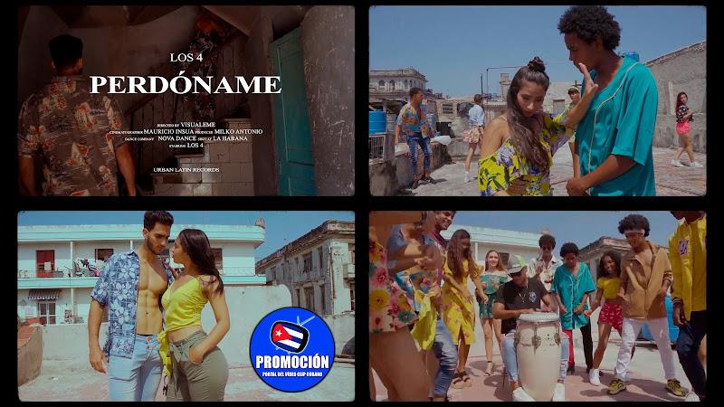 Los 4 - ¨Perdóname¨ - Videoclip - Dirección: Visualeme. Portal Del Vídeo Clip Cubano. Música popular bailable cubana. Son. Salsa. Timba. Cuba.