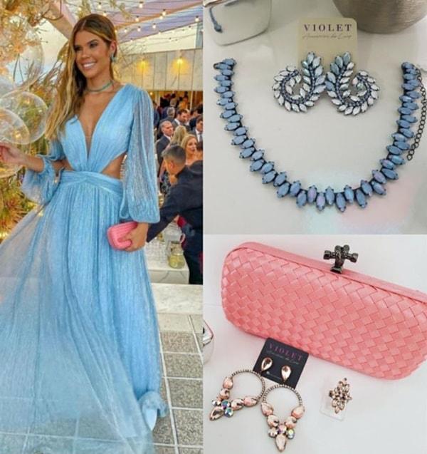 qual cor de acessórios usar com vestido azul serenity