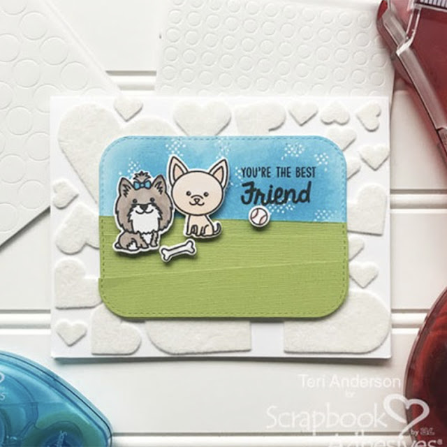 Sunny Studio Stamps: Puppy Dog Kisses Puppy Parents Customer Card by Teri Anderson