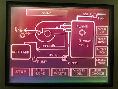 Контрольная панель инсинератора