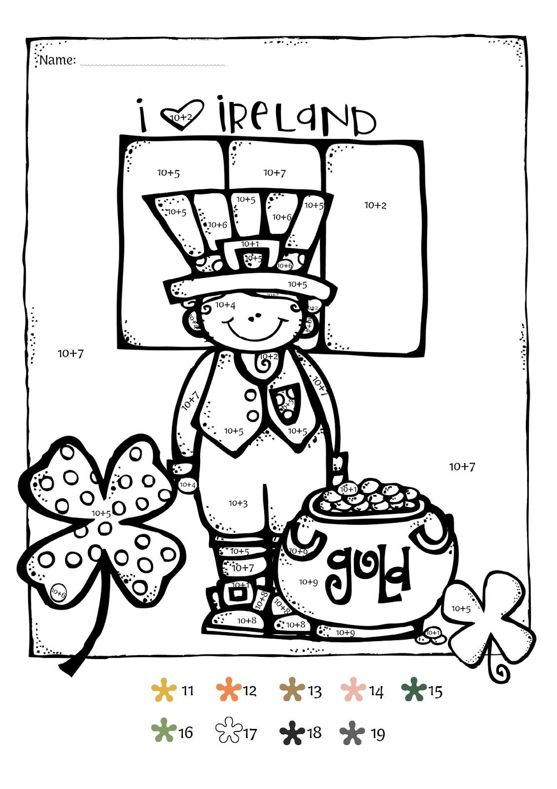 StPatricksDayMathFreebie 005 - St Patricks Day Kindergarten