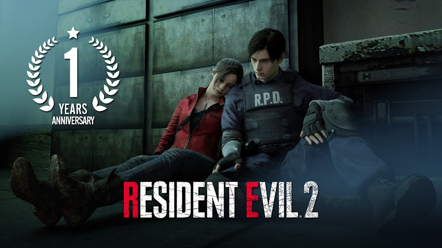 resident evil 2 remake 2019 1st anniversary leon kennedy claire redfield capcom pc ps4 xb1