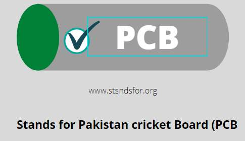 PCB-STANDS FOR Pakistan Cricket board