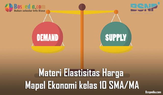 Materi Elastisitas Harga Mapel Ekonomi kelas 10 SMA/MA