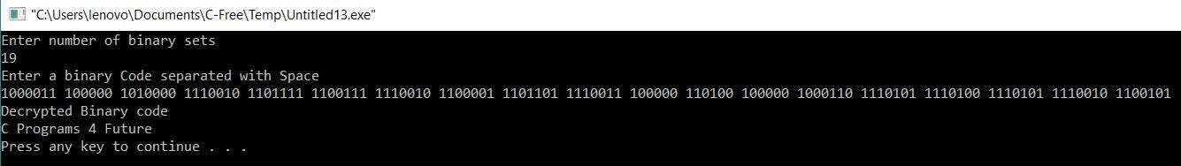 Binary Code Decryption