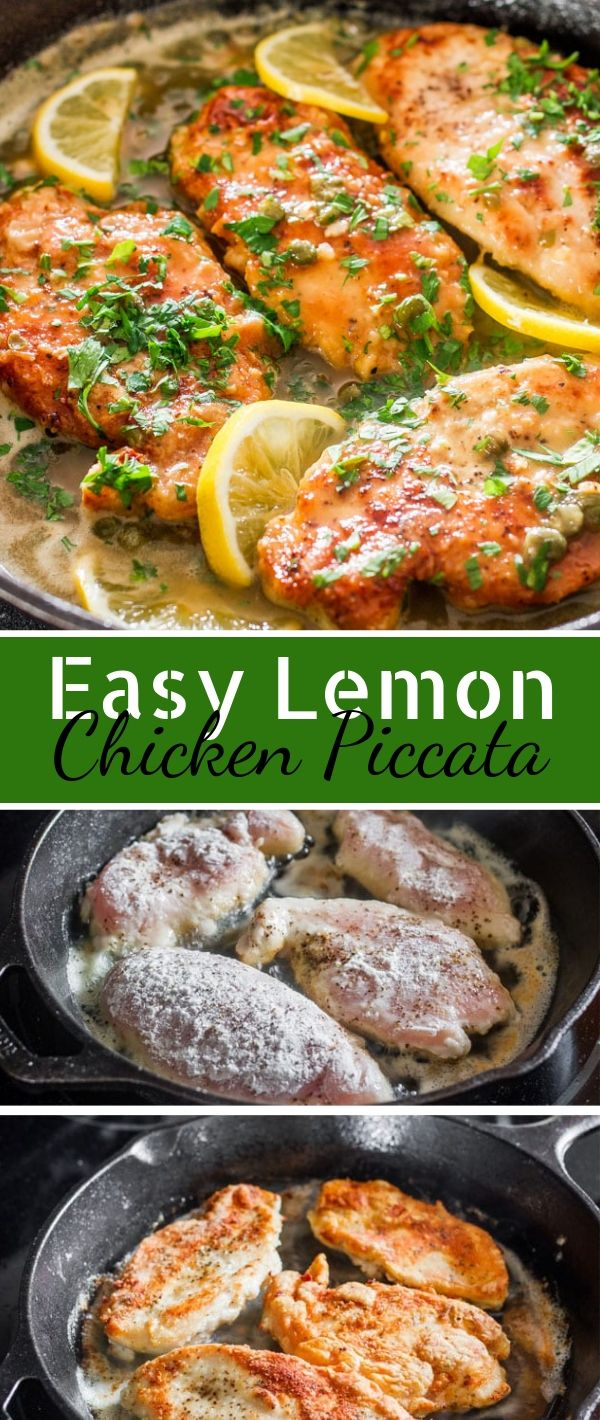 Easy Lemon Chicken Piccata #Easy #Lemon #Chicken #Piccata Chicken Recipes Healthy, Chicken Recipes Easy, Chicken Recipes Baked,