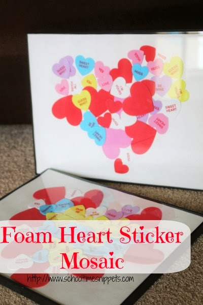 valentines heart mosaic craft