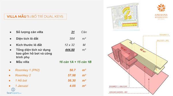 bản vẽ thiết kế mẫu villa 1 trong dự án Angsana Hồ Tràm