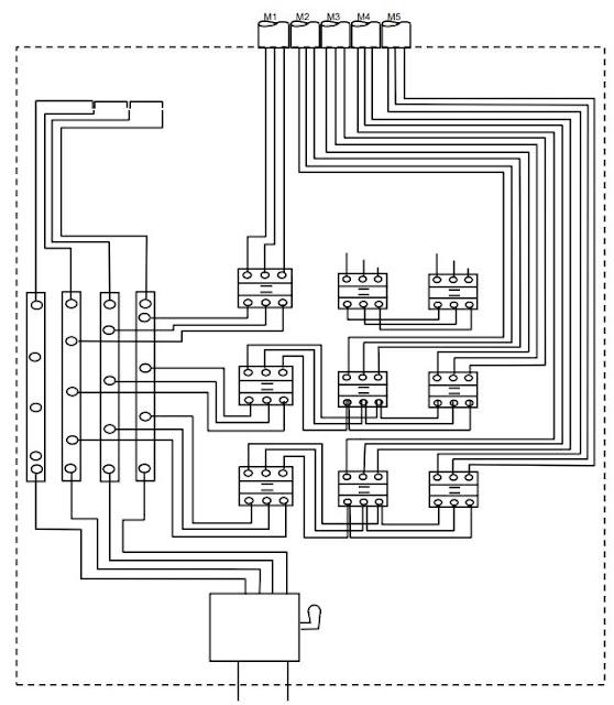 Tata Letak Komponen dalam Panel Daya