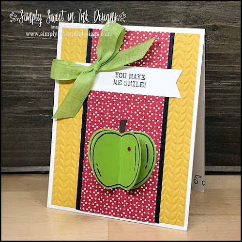 Quick and easy 3D apple card with the Harvest Hellos!