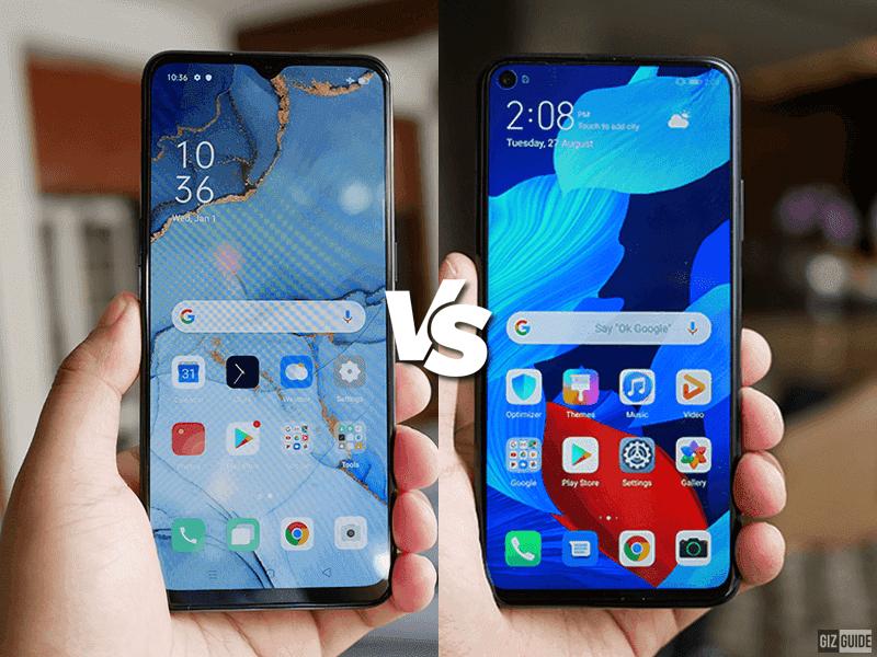 OPPO Reno3 vs Huawei Nova 5T Specs Comparison