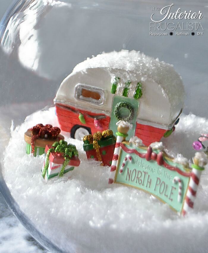 Retro North Pole Diorama Wrapped Presents
