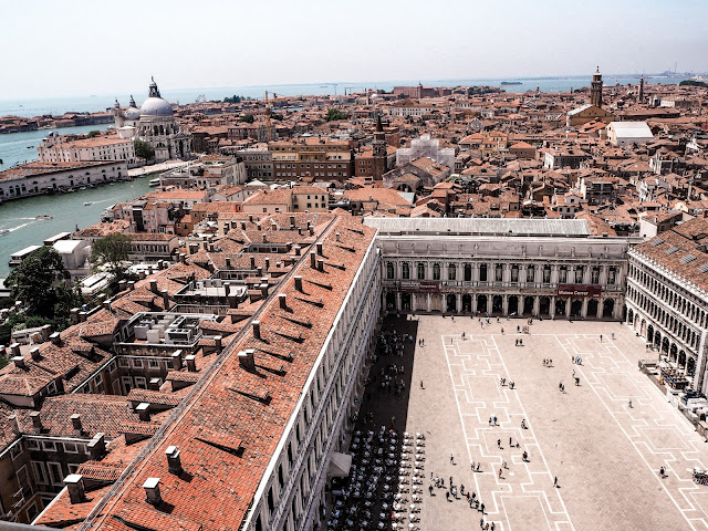 24 hours in Venice- St Mark's Square from above