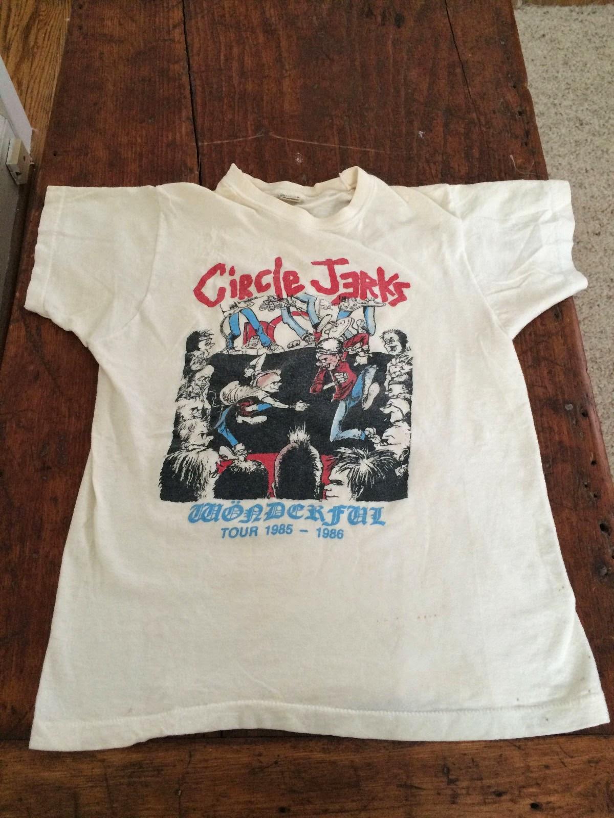 49be15350 Circle Jerks 1985 Vintage Wonderful Tour T-Shirt | vintage t-shirt