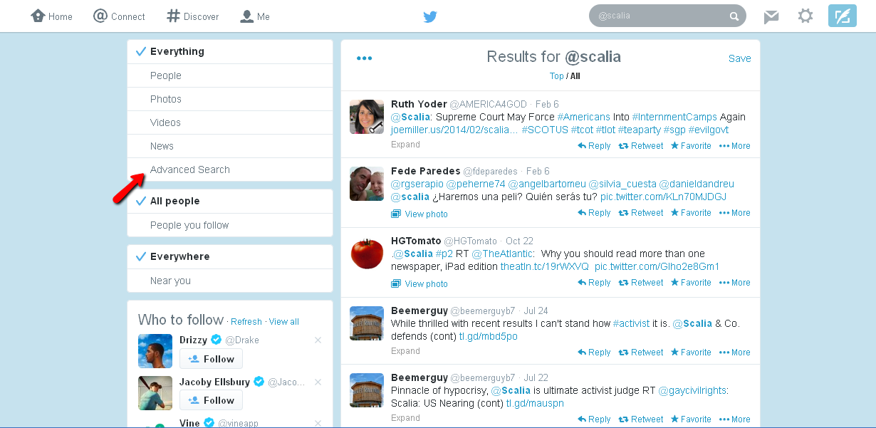 Spot-On Legal Research: Searching Twitter (even without an