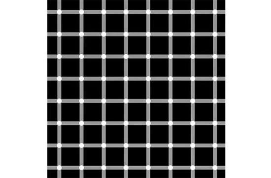 Ilusão de ótica - Pontinhos Pretos ou Brancos