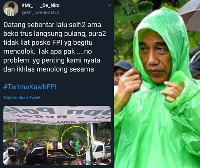 """Netizen : """"Jokowi Pura-pura Gak Liat Posko FPI..."""""""