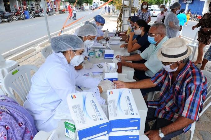 Prefeitura de Monteiro realiza mutirão de testes para Covid-1