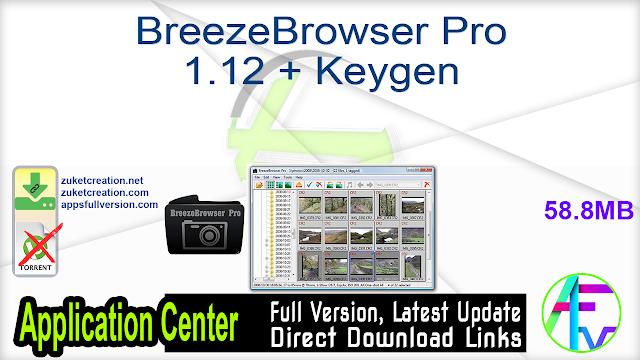BreezeBrowser Pro 1.12 + Keygen