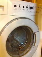 2012年4月2日撮影。無印良品のドラム式洗濯乾燥機。