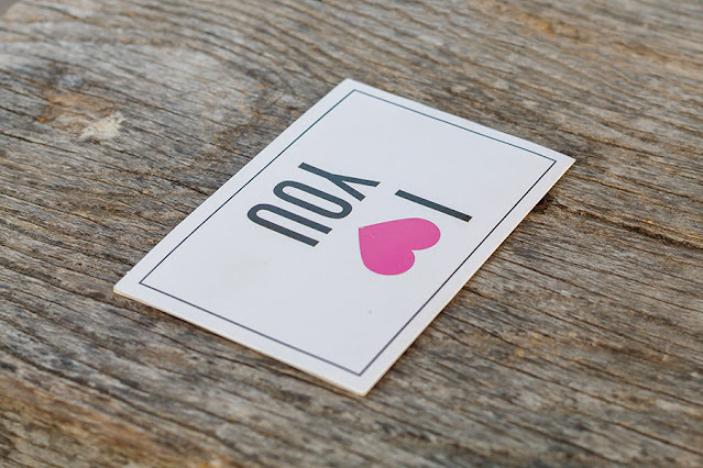 I Love You Printed Card on Wooden Background - Free Image