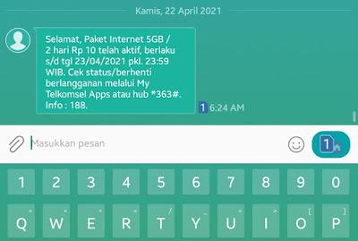 Free Data Internet Telkomsel 5GB Rp.10 dengan Instal Apk Kuncie