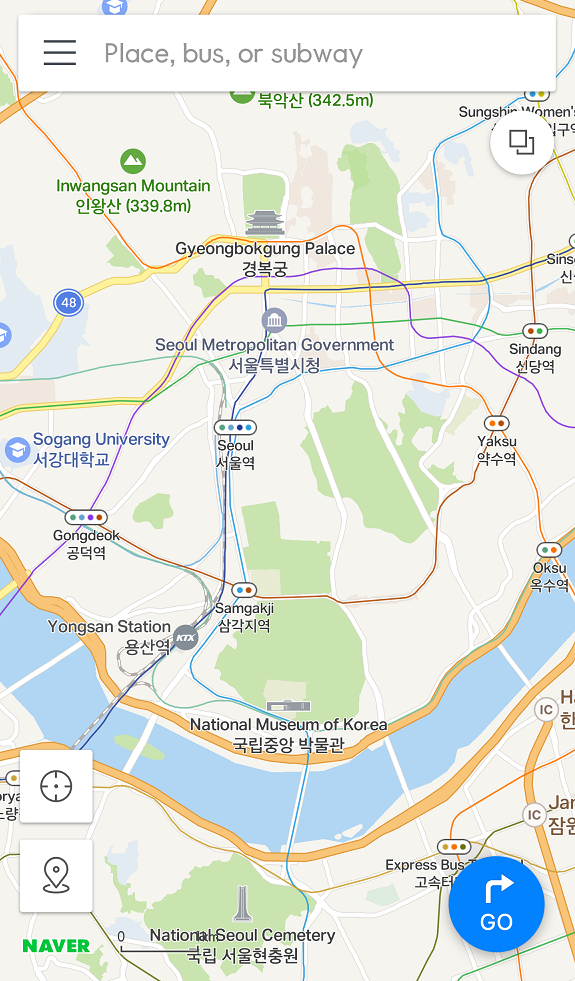 Seoul Korea Map In English.10원 Tips Naver Map Now Available In English Screenshots My
