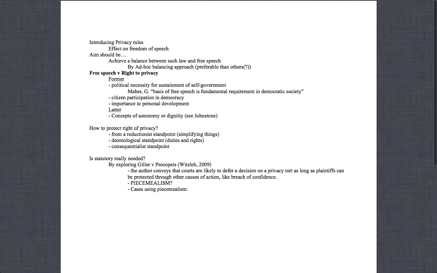 Torts] Negligence Answer Structure/ Template (Updated 2012