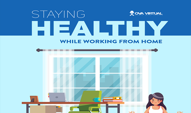 Staying Healthy While Working from Home #infographic