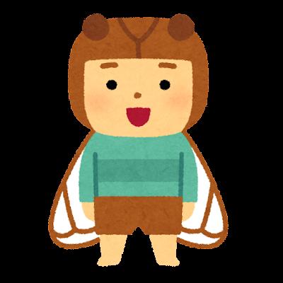 セミのキャラクター(虫)