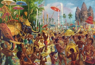 El gran desfile de celebración del nuevo año en Angkor.
