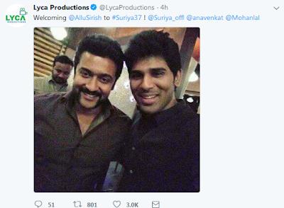 Lyca Productions_Tweet_on_Surya37_Pics