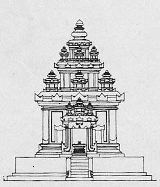 Temple of Central Java style