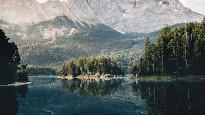 HD Wallpaper Lake, Landscape, Mountain, Reflection, Trees