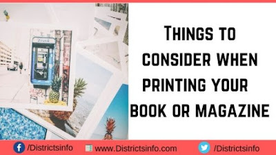 Things to consider when printing your  book or magazine