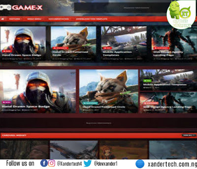 Game X premium blogger template (FREE)