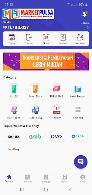 Aplikasi Untuk Transaksi Pulsa Online yang Mudah Digunakan, market mobile topup, ma mobile topup, digital pulsa apk