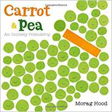 https://www.amazon.com/Carrot-Pea-Friendship-Morag-Hood/dp/0544868420/ref=sr_1_1?ie=UTF8&qid=1500289496&sr=8-1&keywords=carrot+and+pea+an+unlikely+friendship