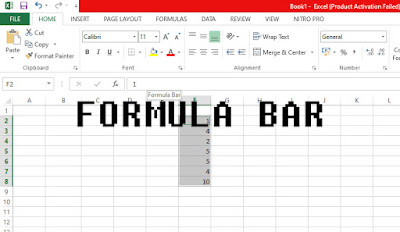 Formula Bar di Microsoft Excel