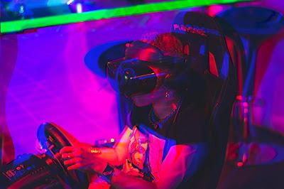 Girl playing videogames