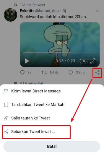 Cara Download Video Twitter dari Android