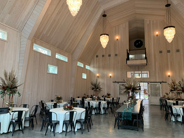 wedding reception decor at Dove Hollow Estate