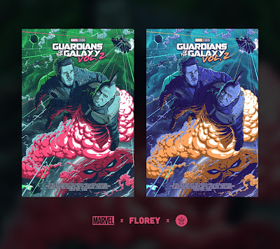 Guardians of the Galaxy Vol. 2 Screen Print by Florey x Grey Matter Art x Marvel
