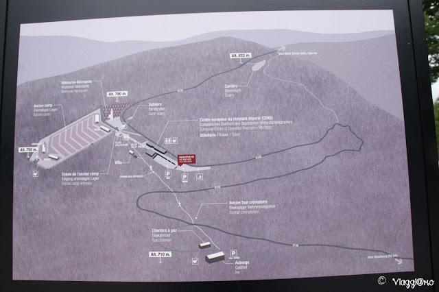 Piantina dell'area del campo di Concentramento di Natzweiler-Struthof