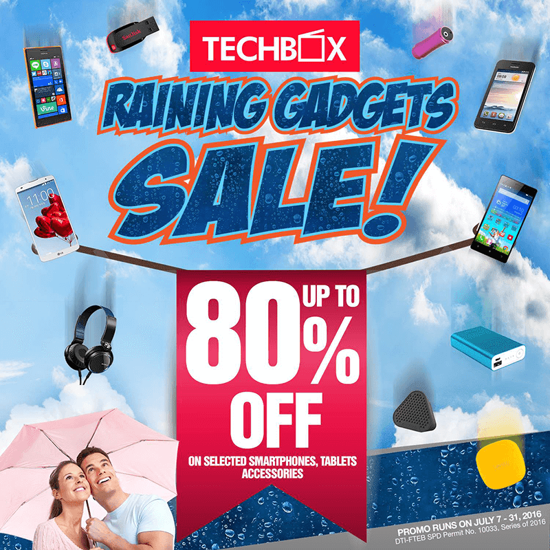 TECHBOX Raining Gadget Sale Announced, Get 80% Off On Several Big Brands!