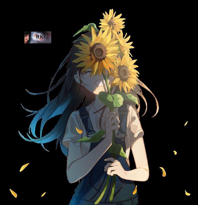 Summer flower render girl by rkyu