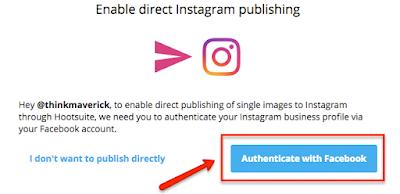 Cara memposting Directly / langsung ke instagram menggunakan hootsuite, inilah caranya